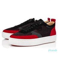 Elegant Brands Happyrui Spikes Red Bottom Sneakers Shoes Men's Casual Walking Designer Red Sole Traniner Party Wedding