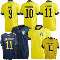 2021 2022 السويد لكرة القدم الفانيلة المنتخب الوطني Ekdal Guidetti Larsson Ibrahimovic Forsberg Home Away 20 21 22 كرة القدم الرجال والاطفال قميص