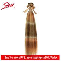 Human Hair Bulks Sleek Remy P8 22 P27 613 P6 22 Bundles Peruvian Weave 10-24 Inches Straight Extension Blonde Bundle