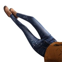 Jeans Women Stretch Slim Skinny Woman Pants Women's Trousers Femme Cute Flower Embroidery Elastic High Waist Cheap Wholesale