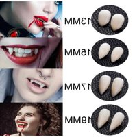 100Pairs Halloween Costume Props False Teeth DIY Cosplay Props Vampire Teeth Fangs Resin Dentures Props Halloween Party Decor