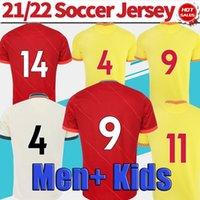 2021 2022 Jersey de football Accueil Red L'oiseau séculaire 21/22 Away Beige Football Shirts Hommes Uniforme de football à manches courtes en vente
