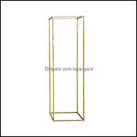 Décor Home & Gardenflower Vase Floor Vases Column Stand Metal Road Lead Elegant Wedding Decor Drop Delivery 2021 Pjisy