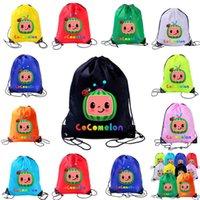 Borse con cordoncino Tiktok Kids Cocomelon Cartoon Borsa a tracolla Anime Zaini Sport Travel Beach Book Pack Pranzo Totes Quick Dry Organizer G49KR7J