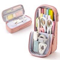 الدائمة حالة مقلمة حقيبة القلم متعدد الطبقات القرطاسية تخزين الحقيبة للمكاتب مدرسة طالب فتاة بوي الكبار XBJK2106