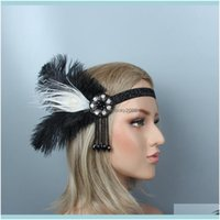 Headpieces Aessories , & Events1920S Great Gatsby Black Bridal Beauty Girl Feather Wedding Queen Tassel Headband Prom Princess Birthday Part