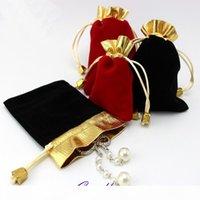 Wholeslae 100 قطع مجوهرات الحقائب المخملية الرباط حلقة القرط الإسورة قلادة حمل أكياس الخرزة الماس حزمة حالة T200602