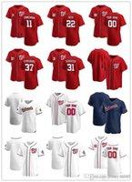 Пользовательские Jersey Mens Вашингтон «Национальные» 11 Ryan Zimmerman 22 JUAN SOTO 31 MAX SCHERZER 37 Стивен Страсбург Бейсбол
