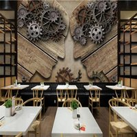 Wallpapers 3D Po Wallpaper For Living Room Coffee Shop Wall Murals Modern Industry Gear Individuality Sticker Mural