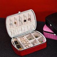 Ювелирные мешки, сумки крокодил узор красный ящик мода дизайн хранения ожерелье кольцо серьги держатель подарок