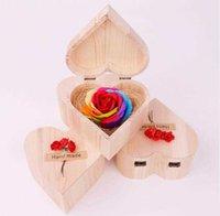 Sevgililer Günü Sabun Renkli Güller Ile Kalp Şeklinde Ahşap Kutu Buketi El Yapımı Güller Sabun Sevgililer Günü Düğün Hediyesi