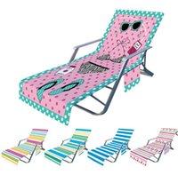 Stuhlabdeckung Streifen Bedruckte Strandtücher Chaisellounge Handtuchabdeckungen für Sun Lounger Pool Sonnenbaden Garten Wasser Meer Versand HWB7294