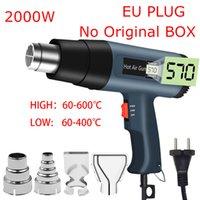 Altri utensili elettrici 2000W Asciugacapelli Asciugacapelli Costruzione Display LCD Pistola a calore Aria calda per saldatura Antifondo termica