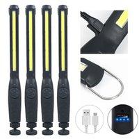 Portable Lanterns 4X 2X COB LED Work Light Pocket 1200mAh 2200mAh Rechargeable Emergency Torch 360° Inspection Camping Lamp