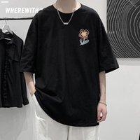 Ropa para hombre de verano Impresión de la flor de la camiseta de la camiseta gráfica de algodón casual de la vitalidad de la vitalidad de la vitalidad de la calidad superior de Harajuku Tshirts camisetas