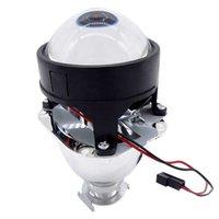 1pc Universal Universal 2.5 pulgadas BI Xenon HID Mini Proyector Lens Silver Shroud H1 Xenon LED Bulb Motorcycle Car Faros de Faro Accesorios