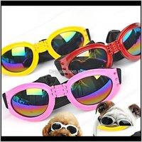 Gözlük Koruyucu Malzemeler Ev Bahçe Bırak Teslim 2021 Gözlük Göz Giyim Koruma Su Geçirmez Pet Güneş Gözlüğü Köpekler Ayarlanabilir Kayışlı