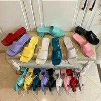 2021 Женская тапочка моды сандалии пляжная платформа тапочки платформы алфавитные дамы на высоком каблуке 35-41 плюс оригинальная коробка