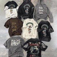 Мужские футболки 2021SS Vintage представляют собой футболку мужчин женщин 1: 1 качество футболка красота Python Graghic рубашки негабаритные мыть