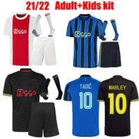 2021 2022 adult kids kit socks soccer jersey Bob Marley TADIC NERES CRUYFF a JAx 21 22 KUDUS ANTONY BLIND PROMES football shirt uniform Home Away blue third black