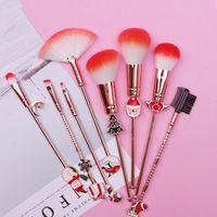 Makeup Brushes 8pcs Christmas Tool Set Cosmetic Powder Eye Shadow Foundation Blush Blending Beauty Make Up