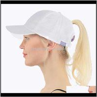 Ball Hats Hats, Scarves & Gloves Fashion Aessories Baseball Cap Women Adjust Messy Bun Snapback Mesh Hat Casual Adjustable Sport Caps Drop De