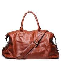 Genuine Leather Travel Handbag Top Quality Business Laptop Duffel Luggage Large Capacity Shoulder Strap GYM Cowhide Leather Bag 210329