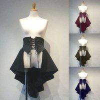 Mittelalterliche Stil Halloween Cosplay Kostüme für Frauen 2021 Gothic Lolita Lace-up Rüschen Hohe Taille Plissee Tight Princess Kleid H0910