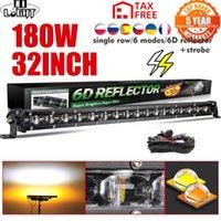 Super Slim da 32 pollici 180W Strobe LED Bar Bianco Yellow Combo Flash Fog FOG Lavoro per 4x4 Offroad ATV Truck 12V 24V luce di lavoro