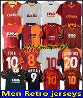 88 89 90 91 92 93 94 95 95 97 97 98 99 Roma Retro Soccer Jersey 00 01 02 Totti Batistuta Candela Montella Shirt 2002 Maglia Da Nakata