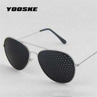 الفاخرة مصمم النظارات الشمسية yooske الرجعية الثقب للنساء الرجال ثقوب صغيرة نظارات الرؤية نظارات الرعاية للجنسين البصر المحسن