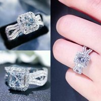 Wedding Rings CAOSHI Chic Engagement Ceremony Women Shinning Crystal Fashion Modern Style Bands Accessories Trendy Jewelry Gift