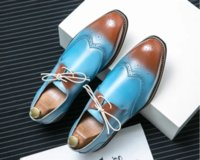 Men Business Dress Shoes Low Heel Round Head Lace Up Wedding Banquet Sneakers Top Quality DH003