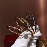 سحر عالية الجودة الفولاذ المقاوم للصدأ مسمار الإسورة جميلة منحوتة الماس مطعمة يأتي مع مربع هدية التعبئة الأصلي