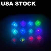 LED Ice Cubes Light Flash Festival Wedding Xmas Party Decoration Color Changing Bar Accessories Grow In the Dark USA STOCK