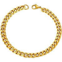 Link, Chain Bracelets Mens Gift Stainless Steel Cuban Link On Hand Male Accessories Chains Black Wholesale Punk Christmas