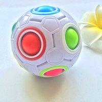 Antistress Cubo Rainbow Bola Quebra-cabeças Futebol Magia Aprendizagem Educacional Brinquedos Para Crianças Adult Kids Stress Reliever Brinquedo