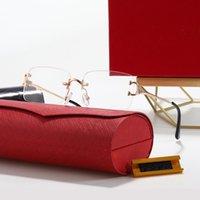 Designer Sonnenbrille Herren Womens Sonnenbrille UV400 Steampunk Mode RimlessMetal Eyewear 2244 occhiali da Sole Firmati Luxus Hohe Qualität 6 Farben mit Box