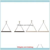 Hooks Rails Storage Housekeeping Organization Home & Garden2 Wooden Wall Hanging Shelf Set, Cotton Rope Triple-Cornered Shees, Swing Shees D