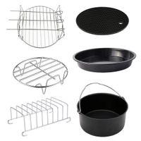 6 adet 6 inç pişirme çanağı pan hava fritöz aksesuarları mutfak ocak araçları seti