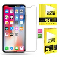 0.3MM 2.5D 9H Tempered Glass Screen Film Protector for iPhone 12 Mini 11 Pro Max XS XR 8 7 6 6s Plus SE2 5S 5 Phone Screens Protectors
