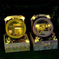 CuteBee دمية البيت أثاث ديي مصغرة 3d خشبية miniaturas دمية اللعب للأطفال هدايا عيد القضية 210910