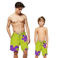 Family Matching Outfits Men's Boys Casual Board Shorts Summer Printing Vacation Beach Father And Son Drawstring