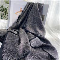 Luxusdesigner Seidenschal 140cm 100% Maulbeer-Seide große Frauen Schals 140 Hand Rolled Foulard en Soie