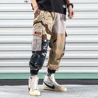 Pantalones para hombres Iidossan 2021 Patchwork Men Cargo Multi-Pocket Joggers Monos militares Japonés Harajuku Streetwear Pantalones