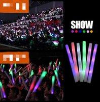 LED 다채로운 막대 주도 거품 스틱 깜박이 거품 스틱, 빛 응원 폼 스틱 콘서트 빛 막대기