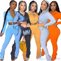 Women Tracksuits Sweatpants And Hoodie Two Piece Pants Outfits Fashion Temperament Solid Color Sweet Long Sleeve Jogger Set