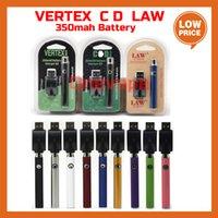 Vertex LAW LO VV 510 Battery Charger Kit 350mAh CO2 Oil Preheat Batteries E Cigarettes Vape Pen Fit 510 Atomizers Cartridges 3 Packagings