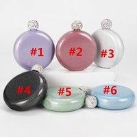 HIP FLASKS 6 Renkler !! Glitter Hology Ruh 5oz Paslanmaz Çelik El Boyutu Şişesi ile Rhinestone Cap Kadınlar Için Mükemmel Hediye R3J6
