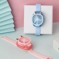 Electric Fans 3 Color Usb Rechargeable Fan With Comfortable Wrist Strap Portable Silent Mini Clip Air Cooling For Outdoors Traveling #4